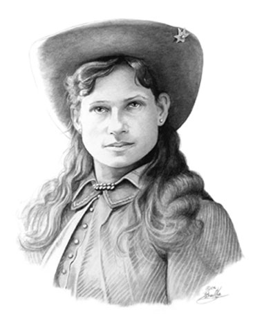 "ANNIE OAKLEY,"" Graphite Pencil by Zahradka Art and Illustration"