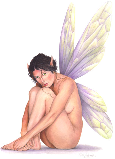 "Prints of ""Fairy in Waiting"" cost $28.00. Prints are 11 inches high by 8.5 ..."